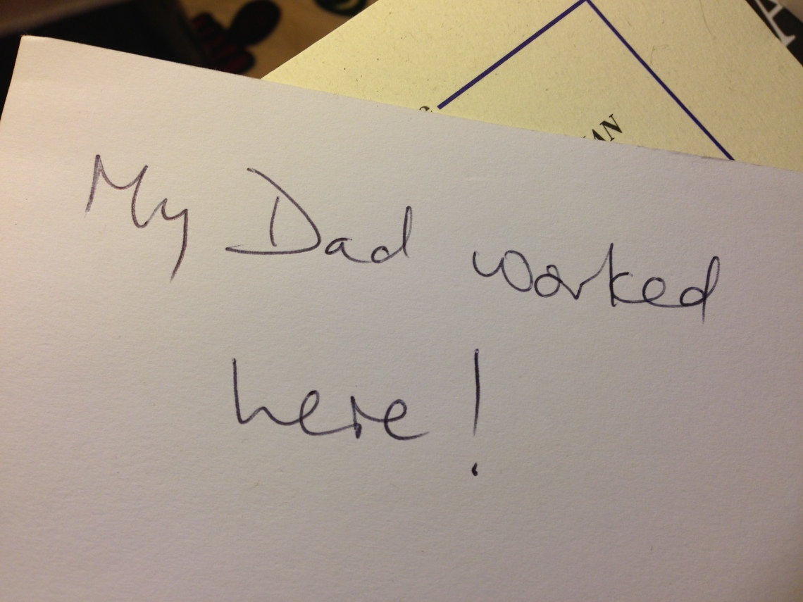 A note from a visitor to Furnace Park, October 2013