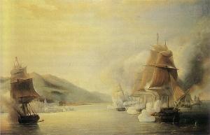 Antoine Léon Morel-Fatio, 'Le bombardement d'Alger', 1830.