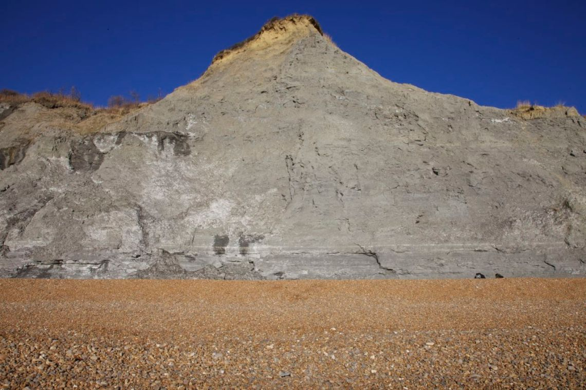 Cliffs flanking Seatown beach